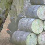 The barrels make good cover from paintballs