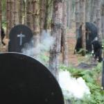 Mind the gravestones, as you're dodging paintballs