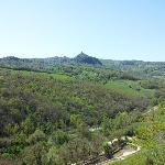 Castiglion d'Orcia e podere visti da Bagno Vignoni