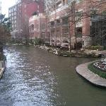 View of the hotel from the Riverwalk