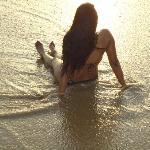 Genieten van het strand.