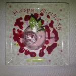 Happy Birthday desert