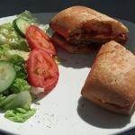 Delicious Breaded Chicken Sandwich on a Ciabatta Bread