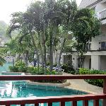 View over pool - family suites on ground floor open onto pool area