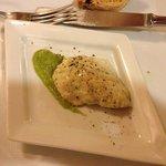 filetto di mormora con crema di asparagi
