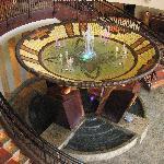 Inside casino/hotel lobby area
