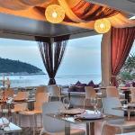 Small restaurant terrace