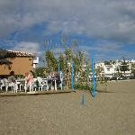 View from the beach to Arroyo Bar and Mijas Playa Club