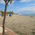 View from the side of Arroyo Bar on to Beach in La Cala