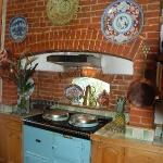 Kitchen area with Aga