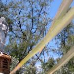 Angel atop the gazebo