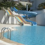 Slides at pool