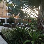 Outside area near the pool