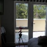 Room facing balcony.