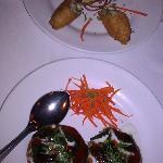 dahi kabab aloo tiki with choley