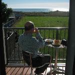 Balcony sunny next morning!