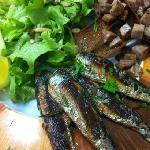 poêlée de sardines,A l'andouille et ses crêpes Aux blé noir