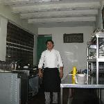 Chef Joshua, in his kitchen