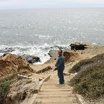 the walk down to the tide pools