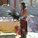Aztec entertainer at La Casa de Dona Lupe