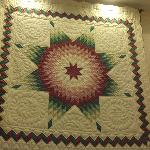 Pretty quilt in the lobby.