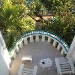 View of our balcony from our bedroom