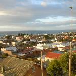 View of Punta Arenas from the hill behind the hotel