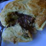 Beaut Bakery - inside the steak and pepper pie