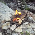 this was our campfire right on the waters edge.