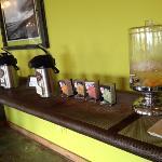 coffee, tea or water in lobby