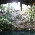 the cenote in Valladolid