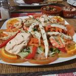 Chicken and Prawn Salad - best ever