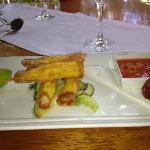 Delicious prawns with chilli sauce and tomato jam