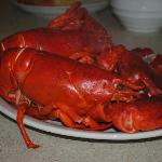 Lobsters (cooked in room) purchased from sellers across from resort