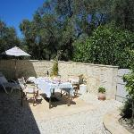 Garden with breakfast at the Olive Press