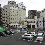View of the hotel from Kofu Station