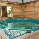the hot tub, nice and cosy at night
