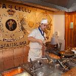Show Cooking pasta, Restaurante La Basílica