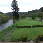 Grounds and river conwy, taken from the balcony of room 2