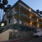 Avalon Hotel at dusk