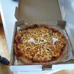 L'excellent pizza, malheureusement plus de petit pain au centre...