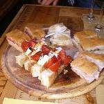 Delicious focaccia and bruschetta