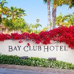 Bay Club Sign Flowers