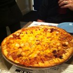 scallop & bacon pizza