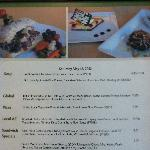 The MIM Cafe menu pg 1