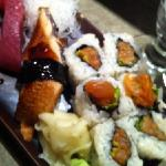 red tuna, unagi and spicy tuna roll
