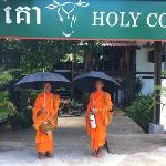 Monks at Holy Cow