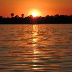 Zambezi sunset on boat cruise