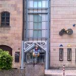 Toy Museum Entrance--easy to miss; look for the sculpture