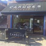 Cargoes Cafe - the seating area outside-great to watch the world go by!
